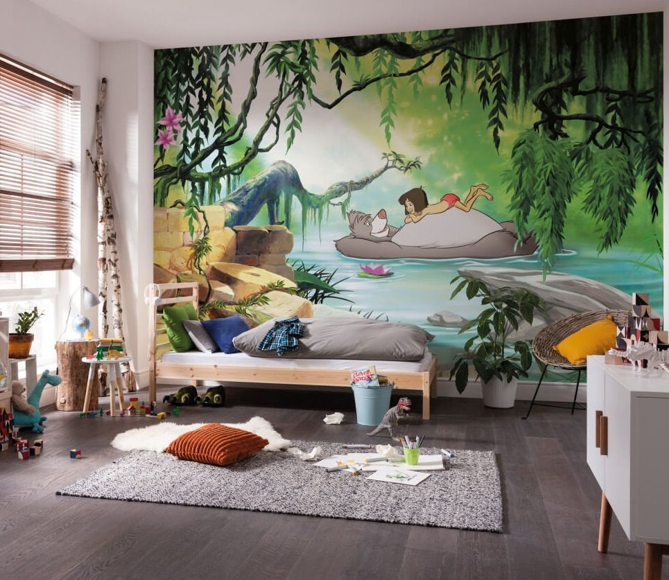 Children S Bedroom Wallpaper Mural Jungle Book Baloo Disney Big Poster Glue Ebay