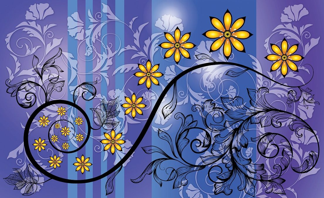 Abstract flower art wall murals for wall homewallmurals for Mural of flowers