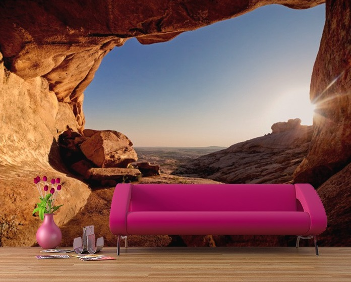 Red Canyon Bedroom Wall Mural