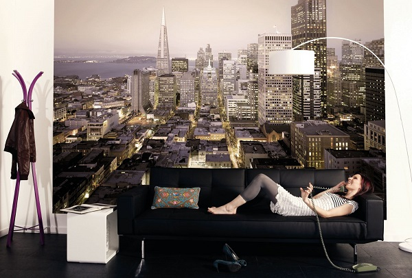 Wonderful San Francisco City Architecture Wall Mural Part 3