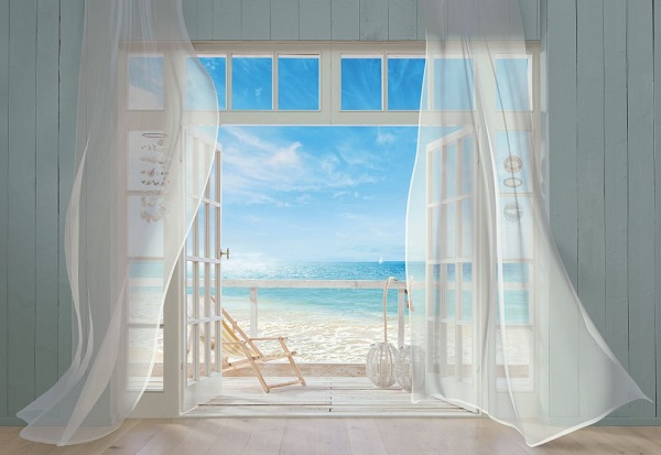Wall Mural photo Wallpaper Holiday blue ocean view BEACH House