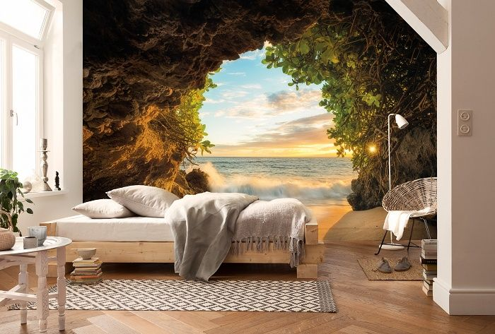 Sea View From Beach Paper Wallpaper