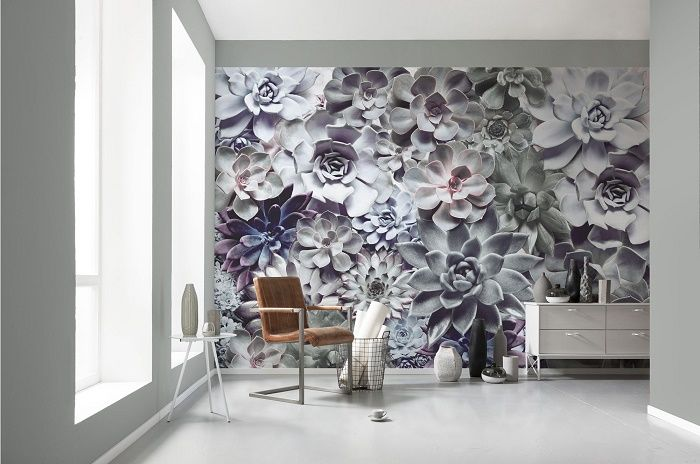 Shades floral design paper wallpaper homewallmurals for Designer mural wallpaper
