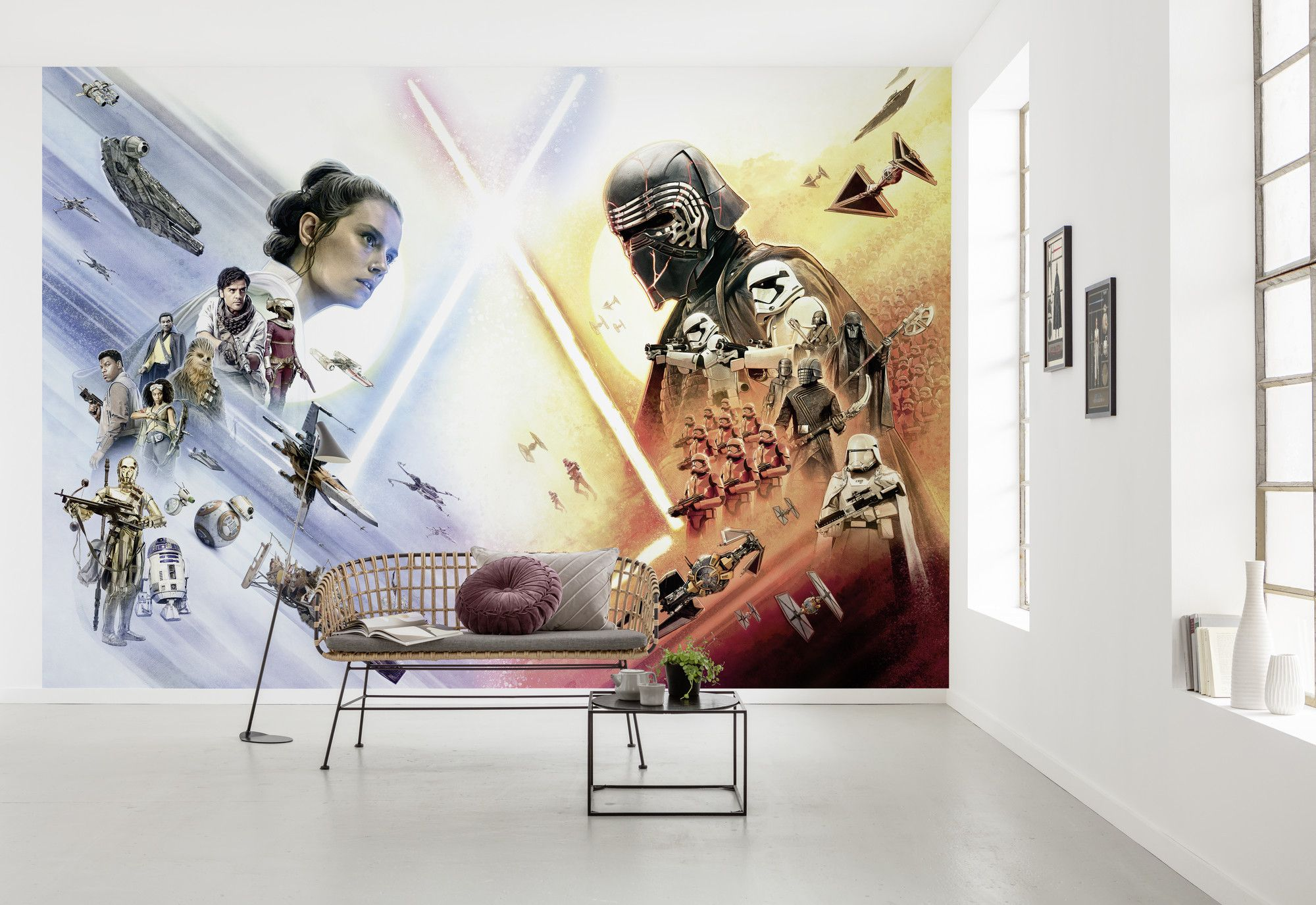 star wars characters wallpaper mural 32211 1 p