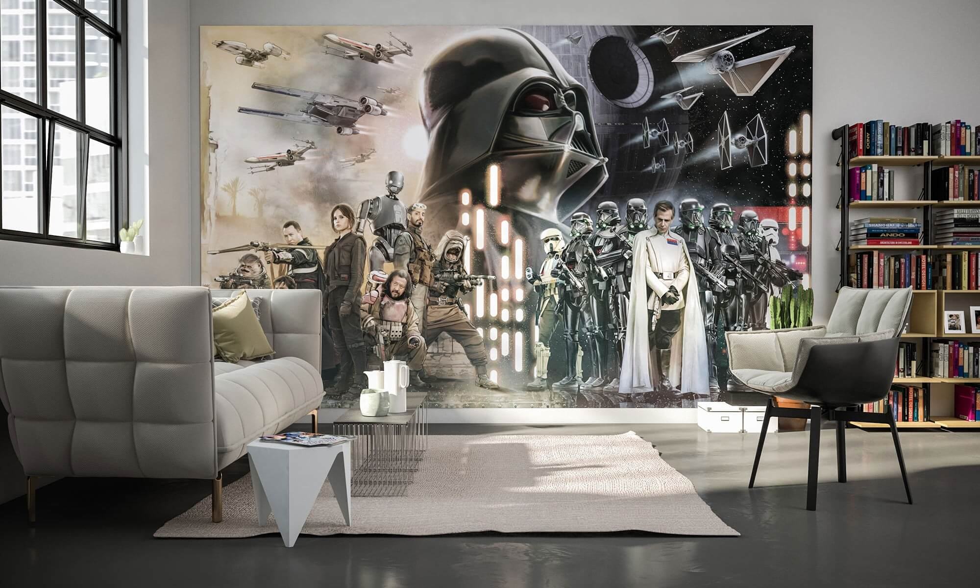 Star Wars Collage Wall Mural Wallpaper