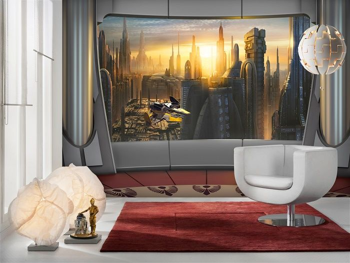 Star Wars Coruscant View paper wallpaper Homewallmurals