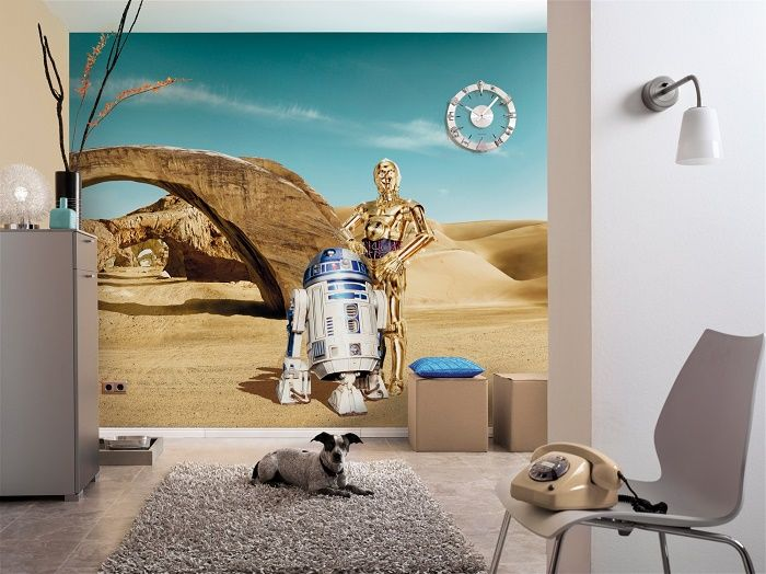 star wars lost droids paper wallpaper homewallmurals. Black Bedroom Furniture Sets. Home Design Ideas