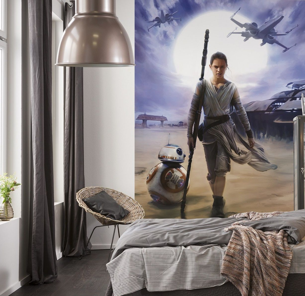 "Star Wars ""Rey"" wallpaper mural Disney"