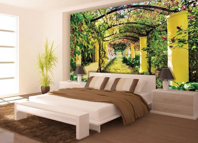 Wall Mural SPRING FLOWERS photo Wallpaper 368x254cm tree pink /& white bedroom