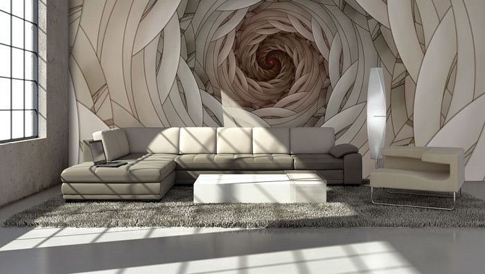 Swirls abstract design giant wall murals allwallpapers for Abstract mural designs