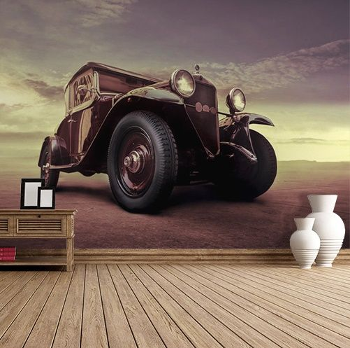 Vintage car wall murals Homewallmuralscouk