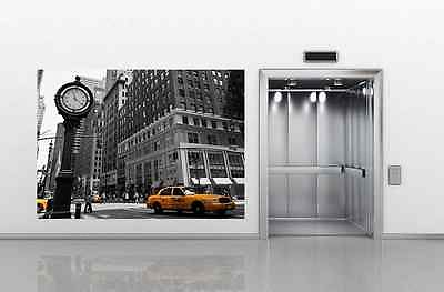Wall mural NEW YORK STREET VIEW photo wallpaper wall art CLOCK AND
