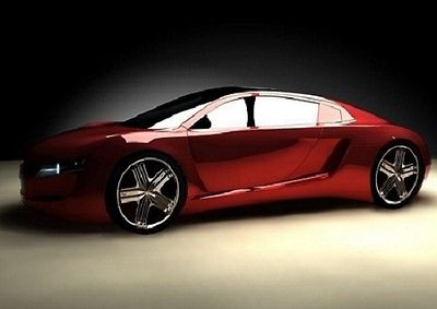 Wall Mural RED SPORT CAR photo wallpaper 254x183cm large size wall art