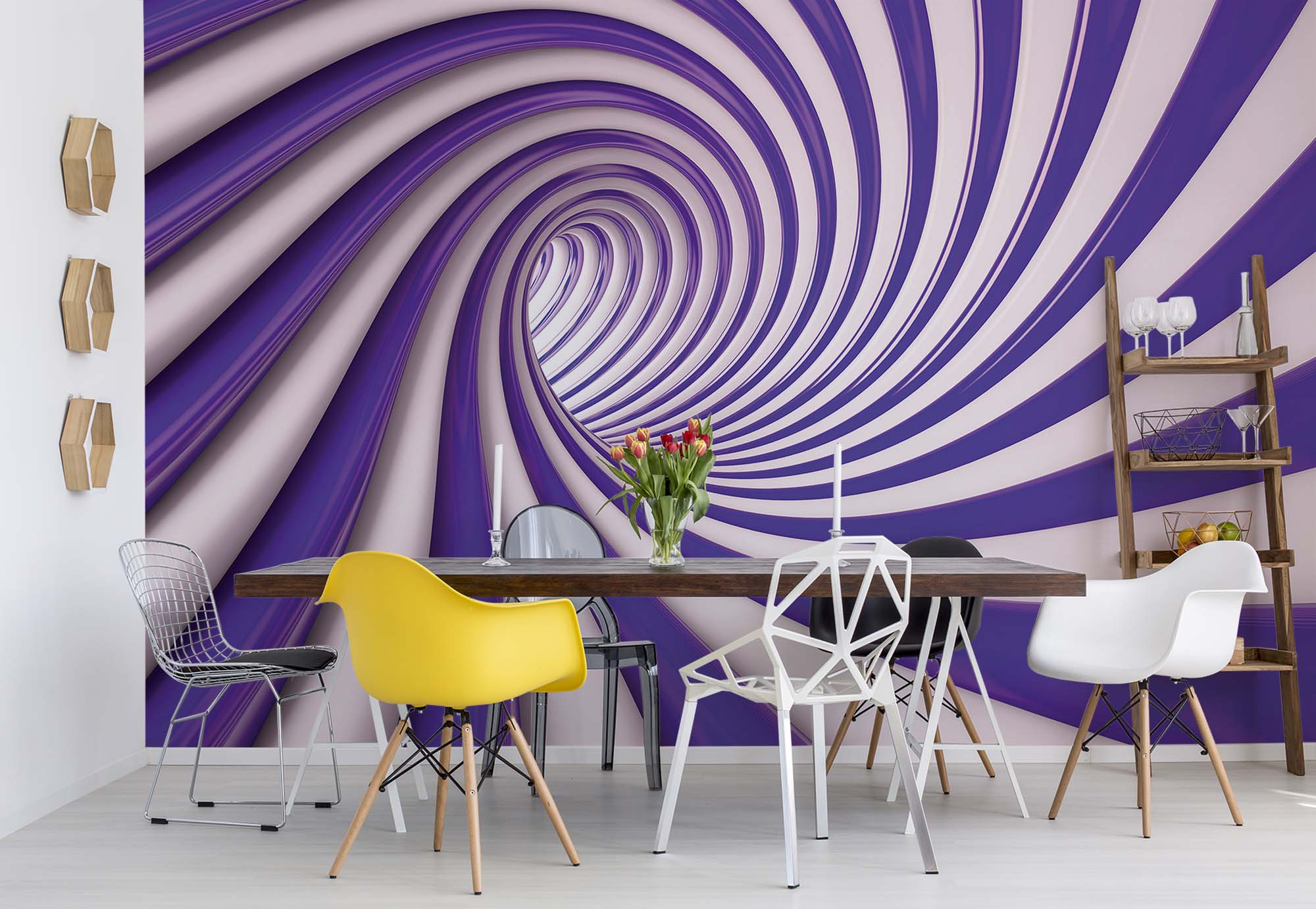 Black Tunnel Wallpaper For Interior Walls Buy It Now