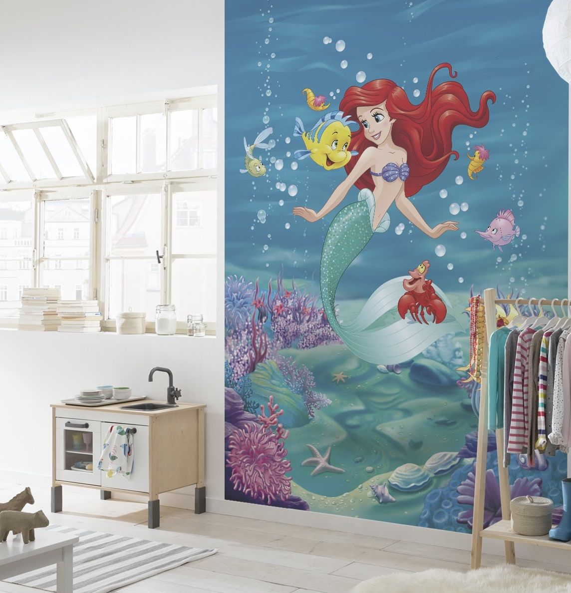 Details About Wall Mural Wallpaper Disney Mermaid 254x184cm Large Photo  Decor For Kids Room