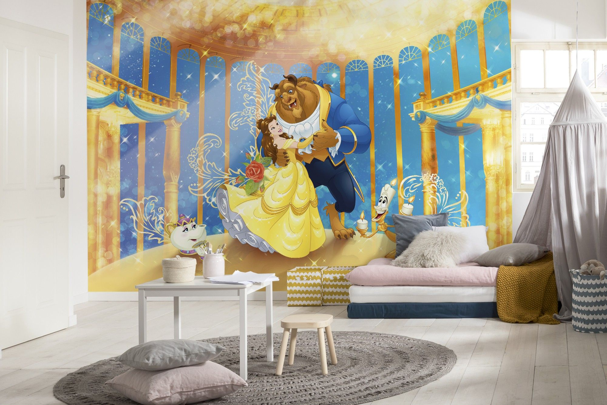 Beauty and the Beast wall mural wallpaper Disney Buy it now