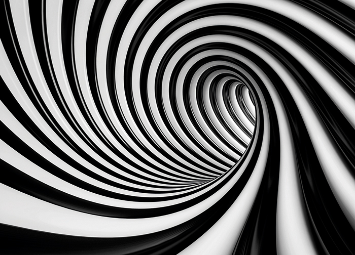 Black And White Home Wallpaper Swirl