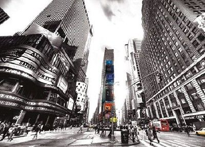Wall mural wallpaper TIMES SQUARE VINTAGE 320x230cm Giant wall decor NEW YORK
