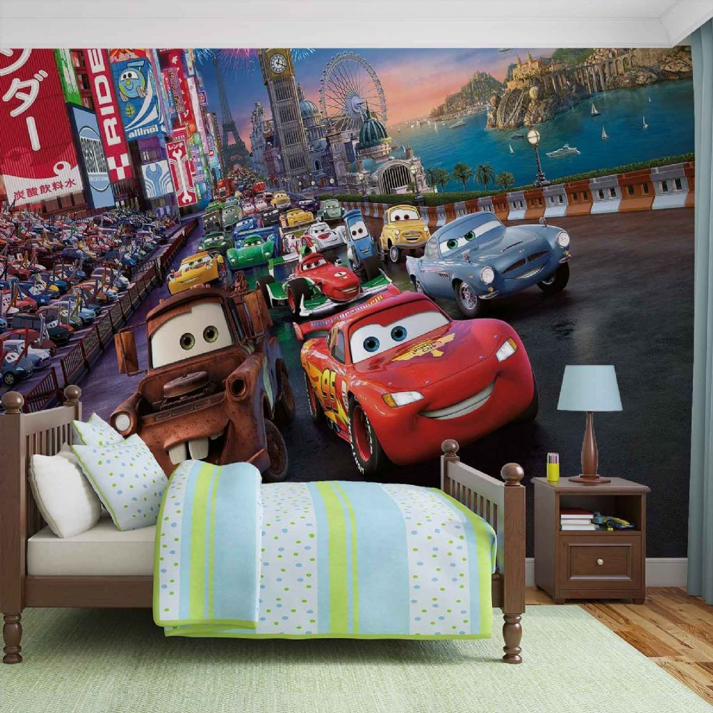 Buy disney wall murals for wall for Disney cars mural uk