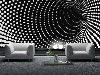 WALLPAPER MURAL PHOTO Black abstract GIANT WALL DECOR PAPER POSTER ...