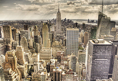 WALLPAPER MURAL PHOTO New York Skyline WALL DECOR PAPER GIANT POSTER Cityscape - 161324290903