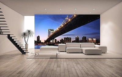 WALLPAPER MURAL PHOTO Sunset Manhattan GIANT WALL DECOR PAPER POSTER LIVING ROOM