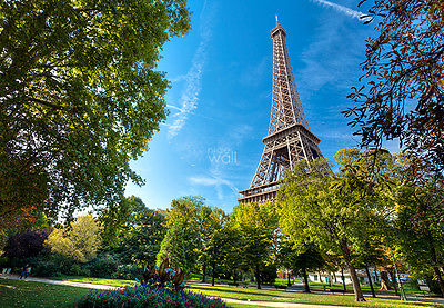 WALLPAPER MURAL PHOTO Tour Eiffel Paris France WALL DECOR PAPER GIANT ART City
