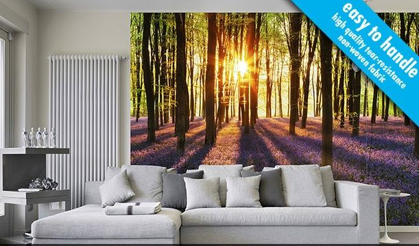 Non woven Forest wall mural Wallpapers
