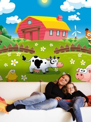 XL Animals - farm nursery wall mural