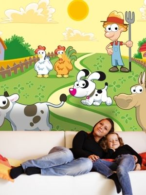 XL Animals - farm nursery wall murals