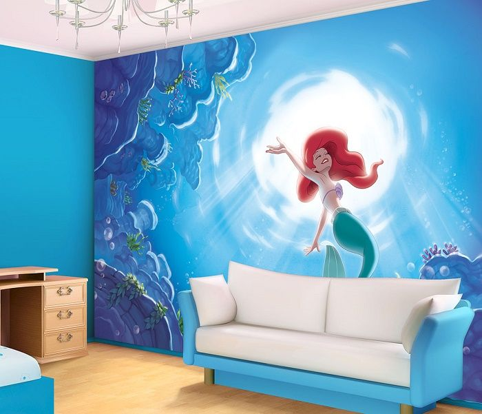 Disney ariel mermaid giant wall mural homewallmurals for Disney ariel wall mural