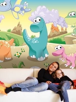 XL Dinosaurs home decor wall mural