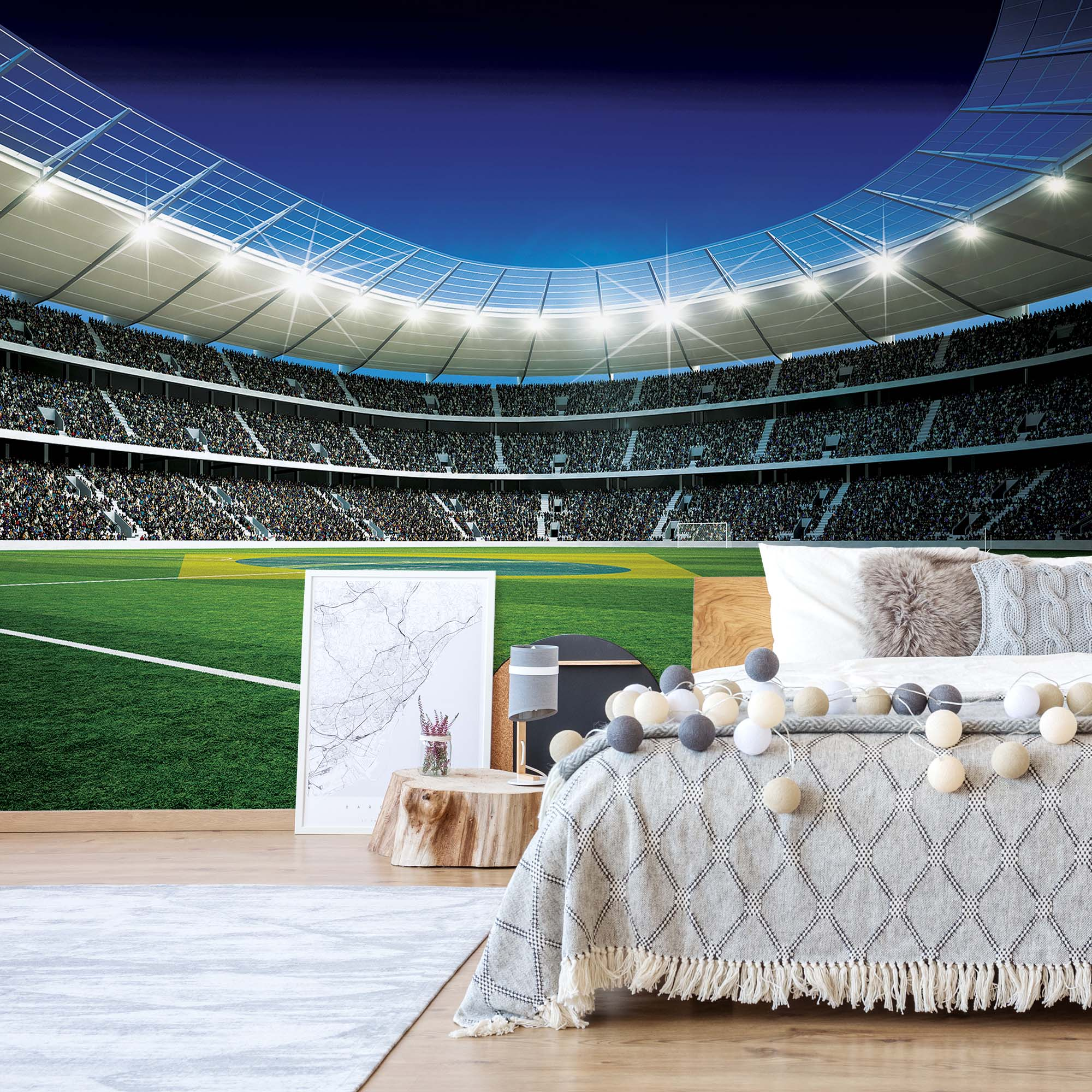 XL Football Stadium Wall Mural For Boys Part 9