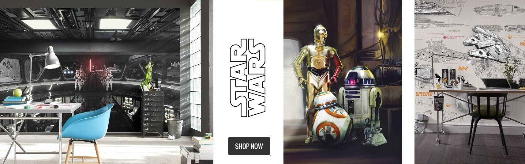 Star Wars bedroom wallpaper murals